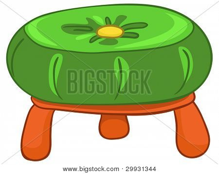 Cartoon Home Furniture Chair Isolated on White Background. Vector.