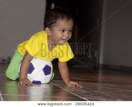 Infant Playing Soccer