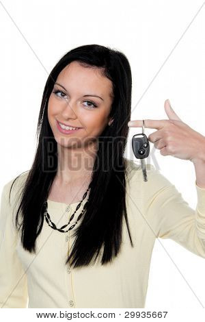 woman with car keys after driving test