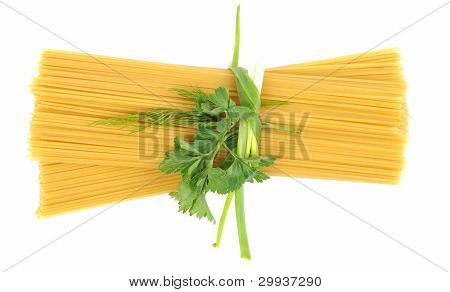 Bunch Of Raw Spaghetti