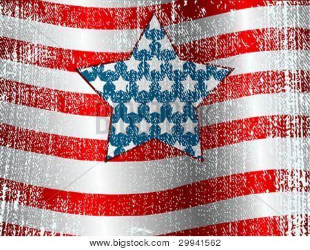USA flag theme grunge background