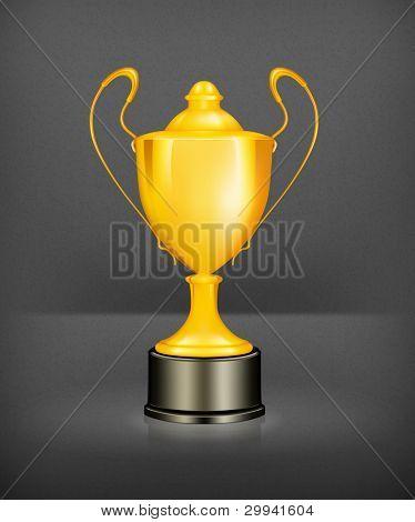 Gold trophy, mesh
