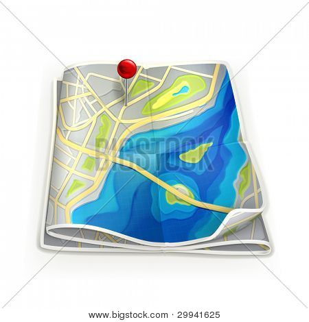 City map, vector