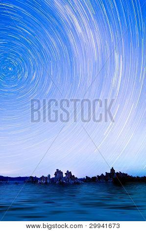 Star Trails Over Mono Lake