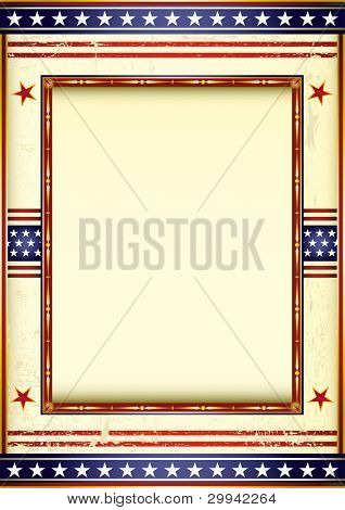 american used frame. Retro style american image with a frame.  See another illustrations like this in my portfolio.
