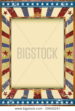 grunge american circus. Old Grunge Image with a frame. Great background to make use of an advertising. See another illustrations like this on my portfolio.