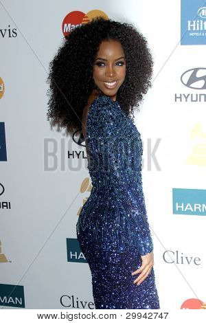 LOS ANGELES - FEB 11: Kelly Rowland arrives at the Pre-Grammy Party hosted by Clive Davis at the Beverly Hilton Hotel on February 11, 2012 in Beverly Hills, CA