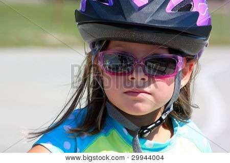 Girl in Bike Helmet
