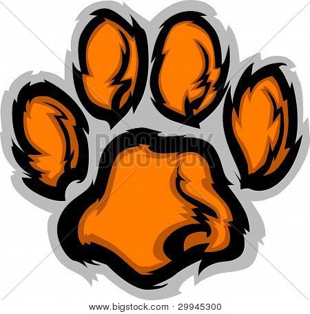 Tiger Paw mascota Vector Illustration