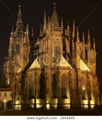 St. Vitus Cathedral At Night