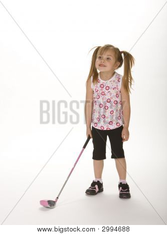 Silly Golfer Girl