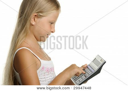 The Nine-year Girl The Blonde With The Calculator