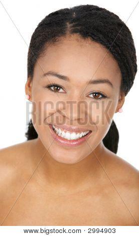 Vrouw glimlach