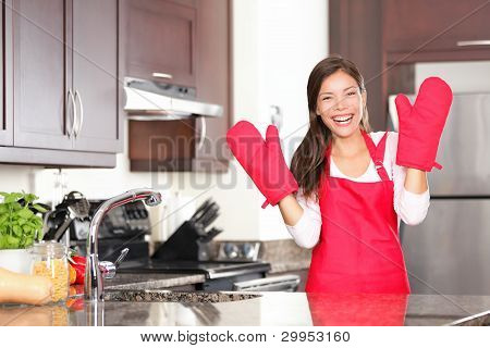 Happy Baking Cooking Woman