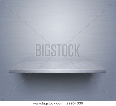 Brushed Metal Shelf