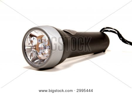 Flashlight On White