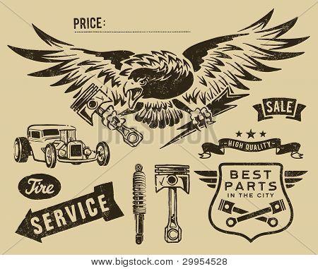 Vintage eagle and auto-moto partsVintage eagle and auto-moto parts