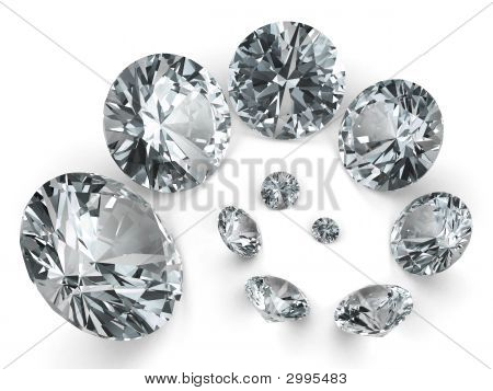 Spiral Of Different Diamonds