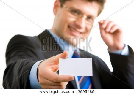 Man With Blank Card