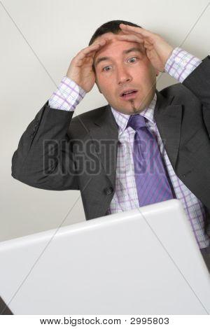 Horrified Businessman