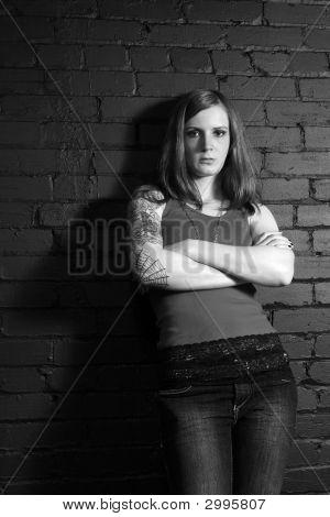 Tattoo Girl Black And White