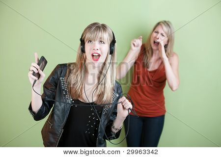 Young Woman Singing Loud