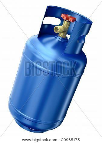 Recipiente de gás azul