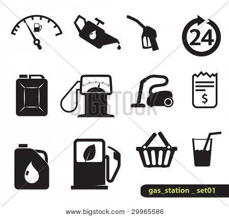 Ícones de estação de gasolina