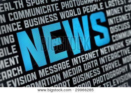 Cartaz de notícias