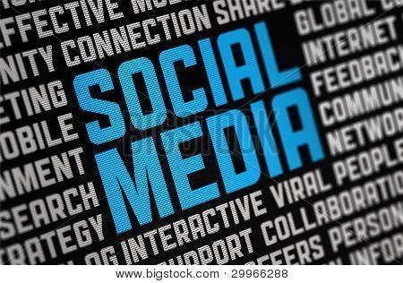 Cartaz de mídias sociais