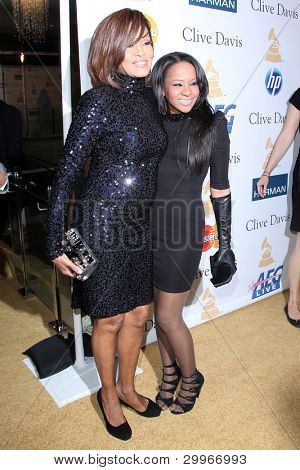 LOS ANGELES - FEB 12:  Whitney Houston; Bobbi Kristina Brown at the 2011 Pre-GRAMMY Gala And Salute To Industry Icons  at Beverly Hilton Hotel on February 12, 2011 in Beverly Hills, CA