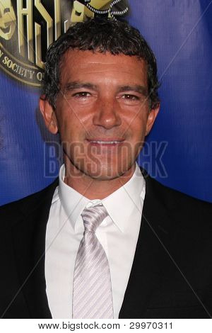 LOS ANGELES - FEB 12:  Antonio Banderas at the Press Area of the 2012 American Society of Cinematographers Awards at the Grand Ballroom, Hollywood & Highland on February 12, 2012 in Los Angeles, CA