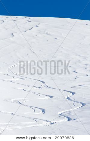 Free Ride Ski Tracks
