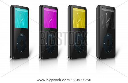 Cmyk Modern Mp3/mp4 Multimedia Player
