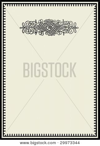 Vector Vintage Ornament and Frame. Easy to edit. Perfect for invitations or announcements.
