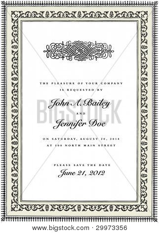 Vector Frame and Ornament. Easy to edit. Perfect for invitations or announcements.