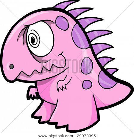 Crazy Insane Dinosaur Animal Vector Illustration Art