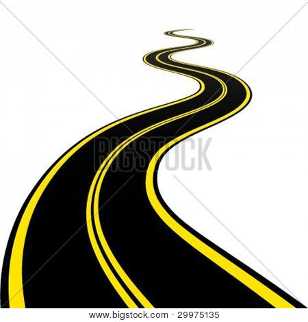 vector winding road