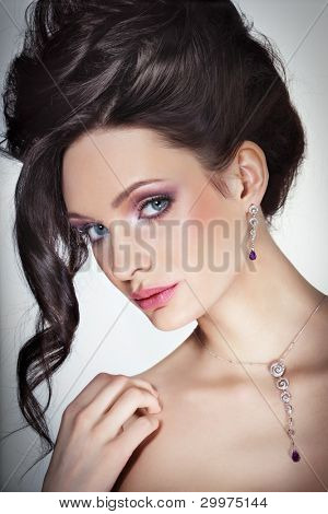 Beauty with jewellry