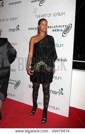 LOS ANGELES, CA - JAN 16: Joy Bryant at the 3rd Annual Art of Elysium Gala on January 16, 2010 in Los Angeles, California