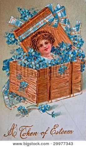 Usa- Circa 1900 - Vintage Greeting Card