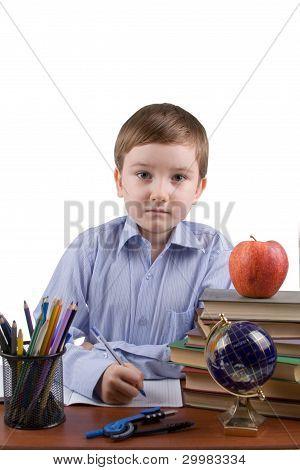 Boy Does Homework