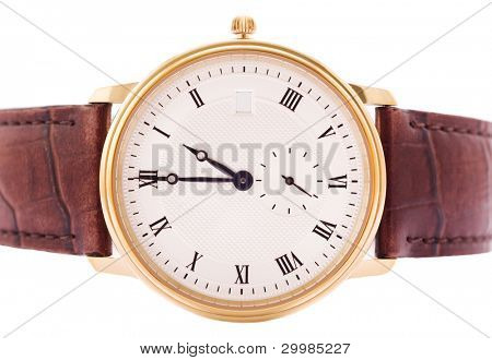 Men's classic watch with a white background