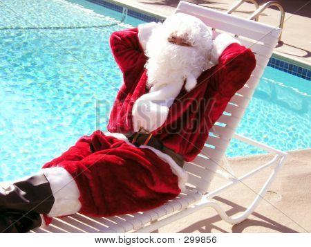 Poolside Santa