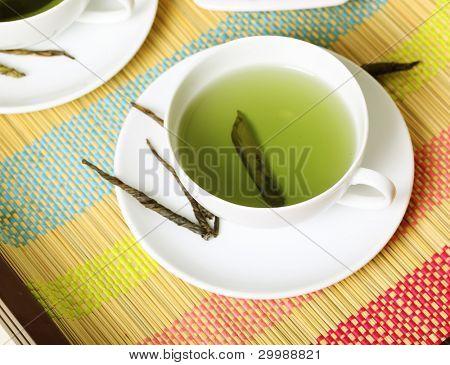 Tasse grüner Tee Tea-time