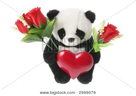 Panda Soft Toy With Love Heart