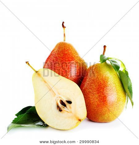 Fresh pear isolated on white background