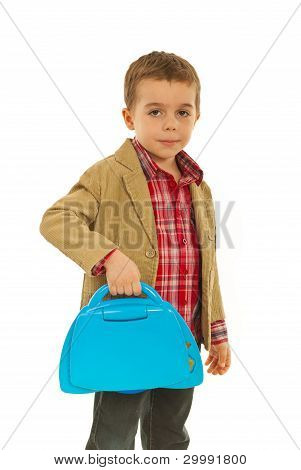 Business Child With Laptop Toy