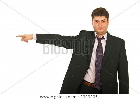 Serious Business Man Pointing