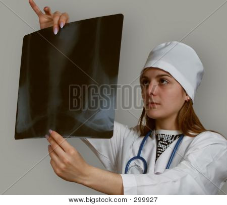 The Doctor Studies A X-ray Picture
